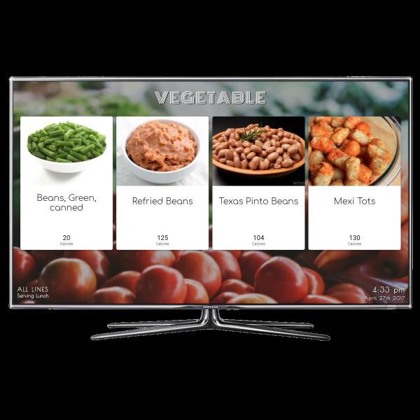 SchoolCafe Vegetable Menu