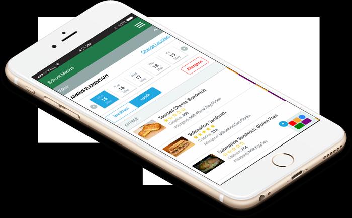 schoolcafe menus-screenshot