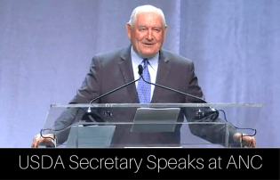 USDA Secretary Speaks at SNA's ANC Harib Massu