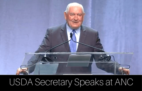 USDA Secretary Sonny Perdue Speaks on School Lunch at ANC
