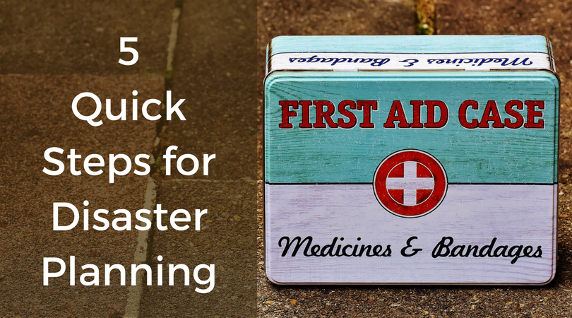 first aid kid for disaster planning